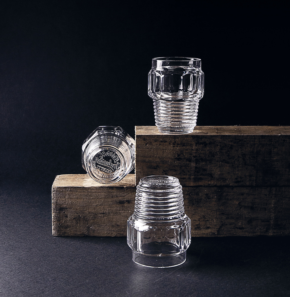 SET OF 3 DRINKING GLASSES - SMALL