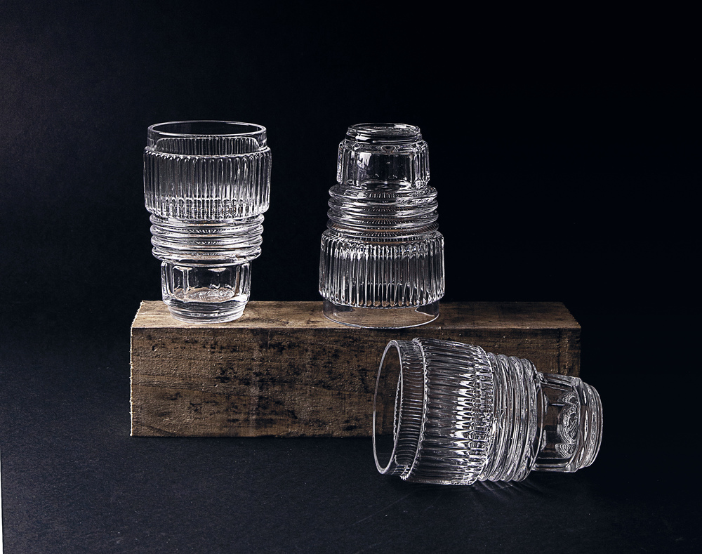 SET OF 3 DRINKING GLASSES - LARGE