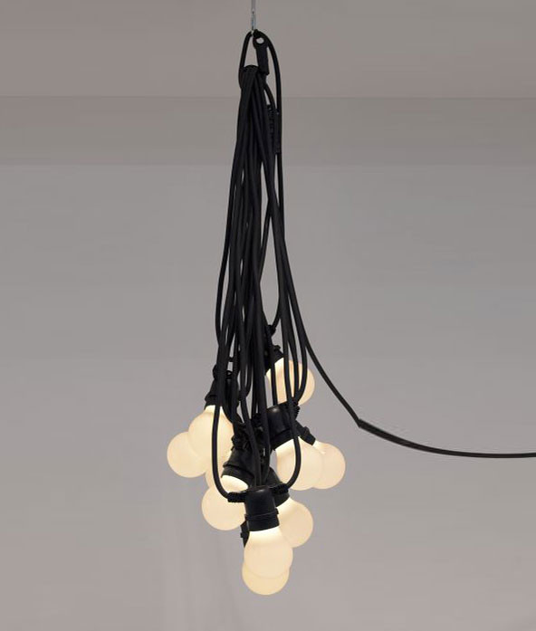 BELLA VISTA IN BLACK - HUNG AS CHANDELIER