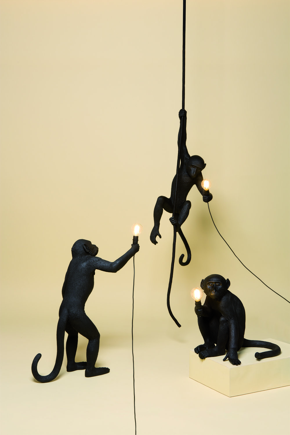 OUTDOOR VERSION BLACK MONKEY LAMPS
