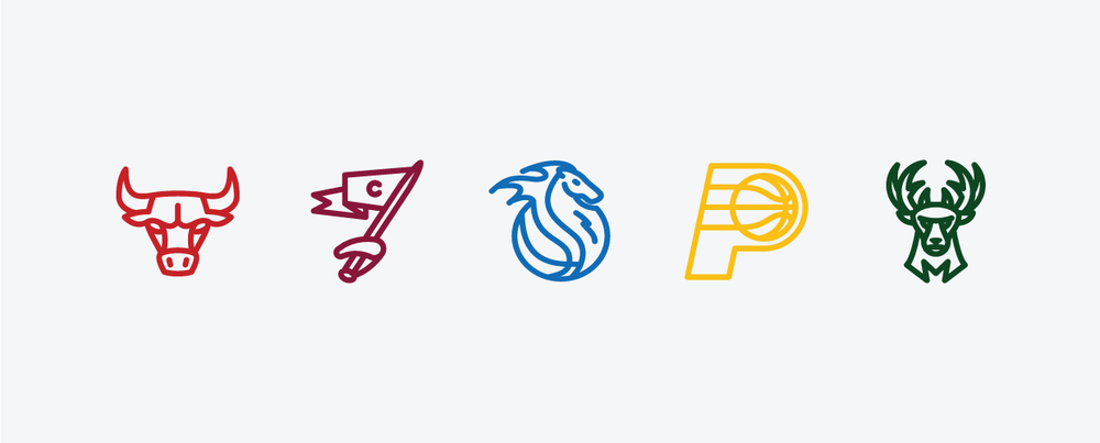CENTRAL:  Chicago Bulls, Cleveland Cavaliers, Detroit Pistons, Indiana Pacers Milwaukee Bucks