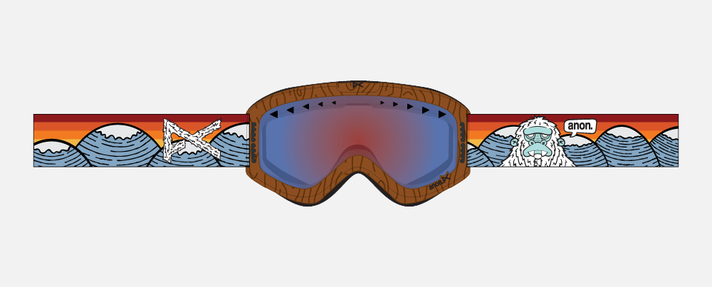Goggle flat created for production.