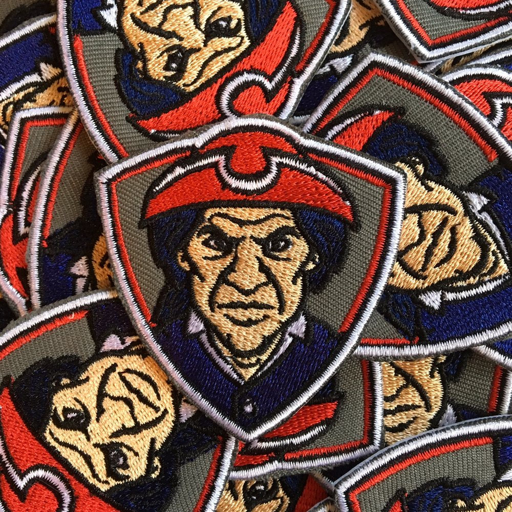 Patriotic Patrick Embroidered Patch