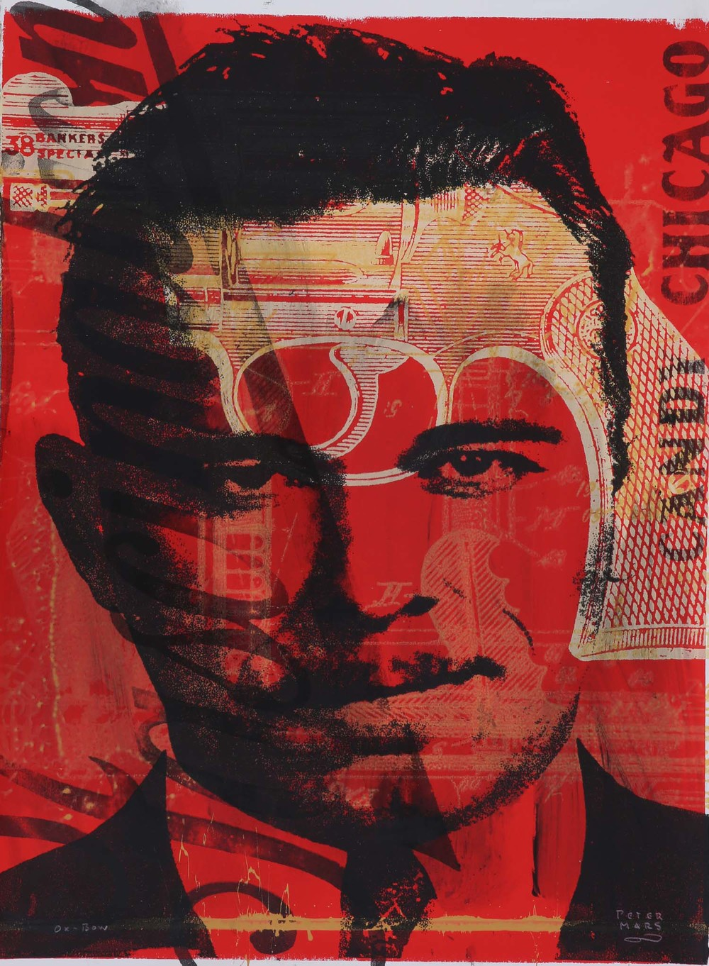 John Dillinger in Chicago ,    Peter Mars, American Pop Art, 30x40""