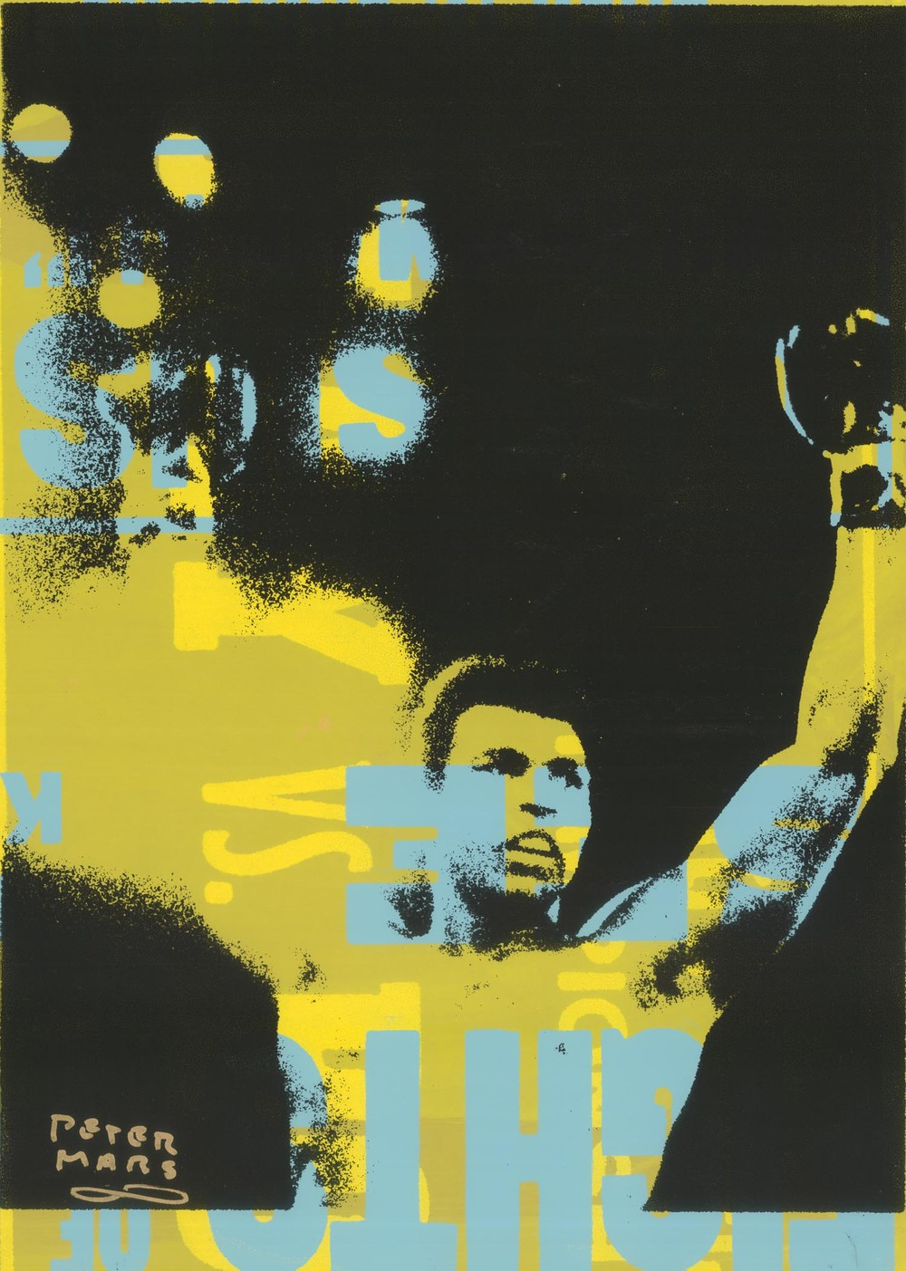 "Muhammad Ali- Victory , Peter Mars, American Pop Art, 15x20"""