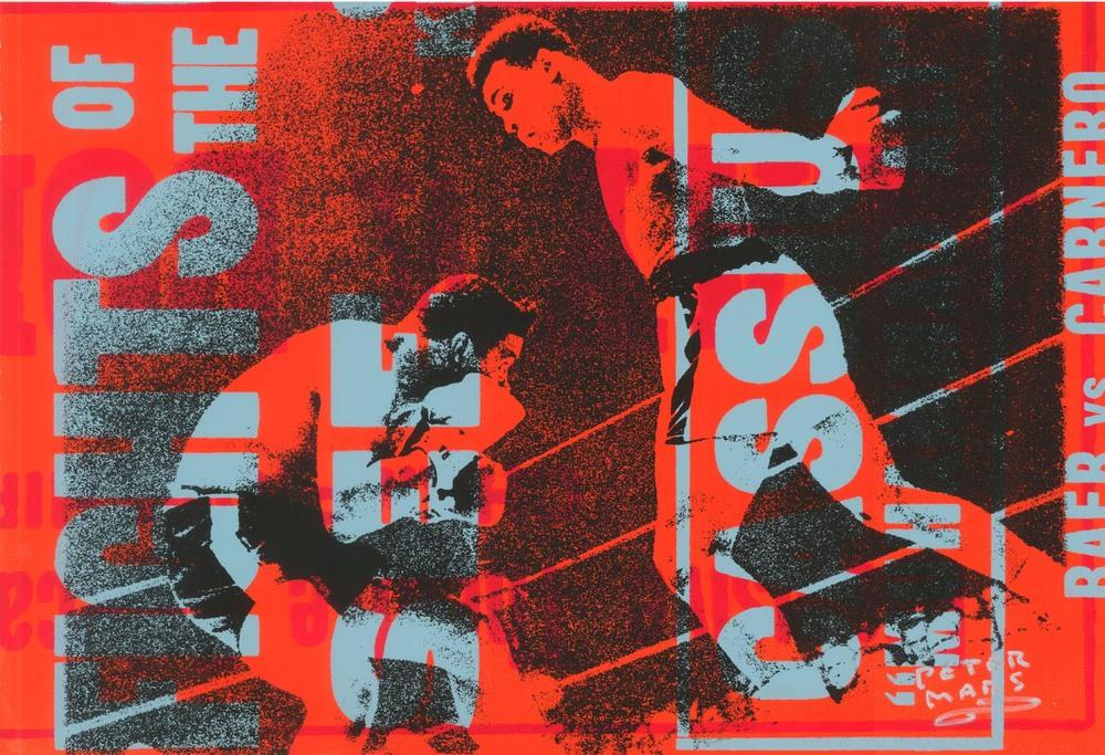 "Muhammad Ali- Butterfly , Peter Mars, American Pop Art, 15x20"""