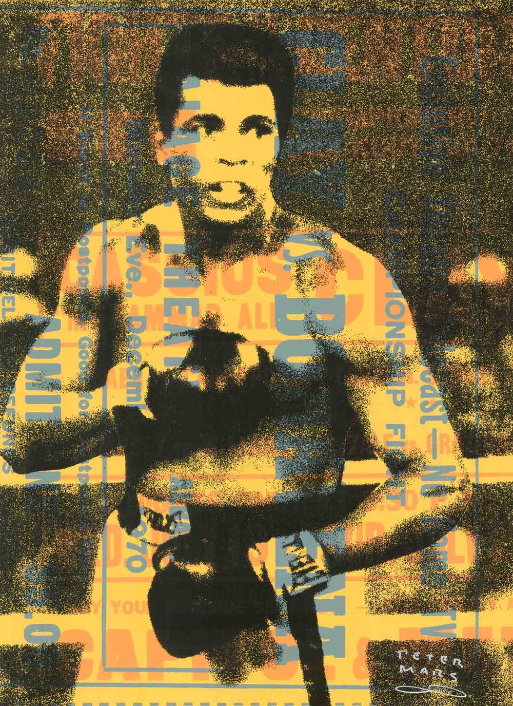 Muhammad Ali- Rumble ,  Peter Mars, American Pop Art, 15x20""
