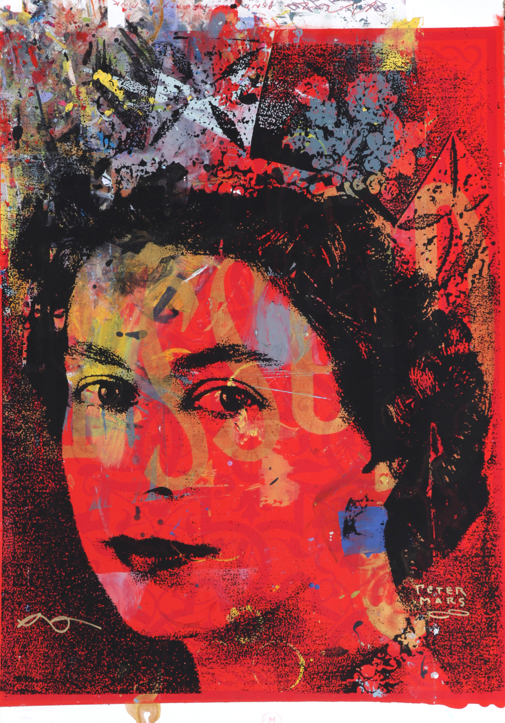 GSTQ Crown Jewels ,  Peter Mars, American Pop Art, 30x40""