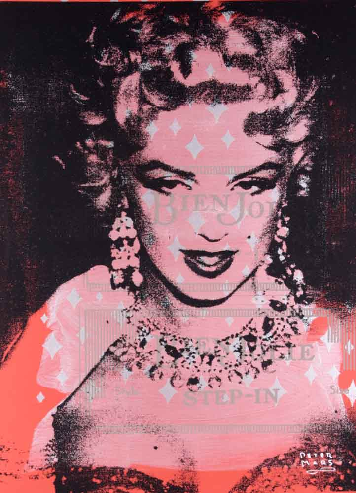 Marilyn in Diamonds ,  Peter Mars, American Pop Art, 48x36""