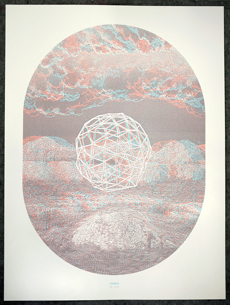 Geoglobe, 18×24″, edition of 15, 2014, 200.00 CAD (3-D glasses included), SOLD