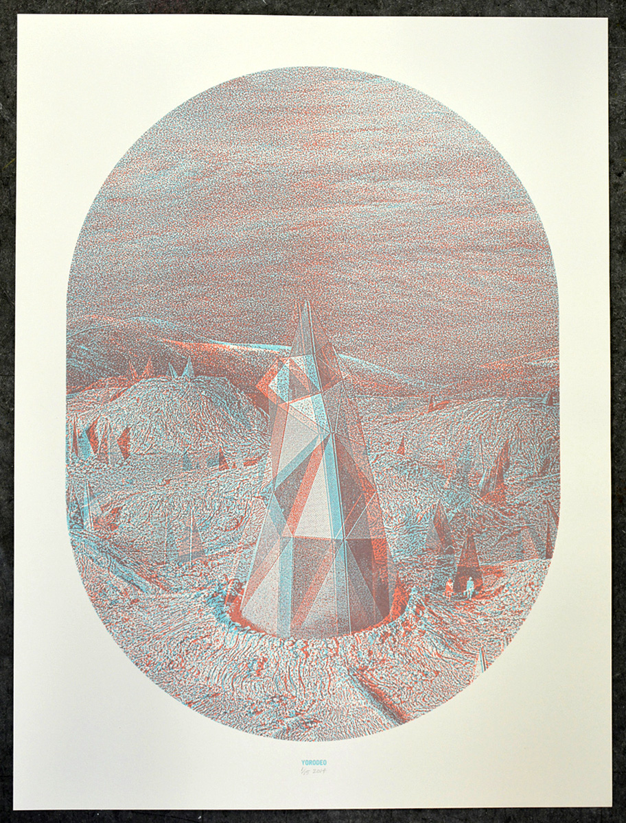 Crystal Mountain, 18×24″, edition of 15, 2014, 200.00 CAD (3-D glasses included)