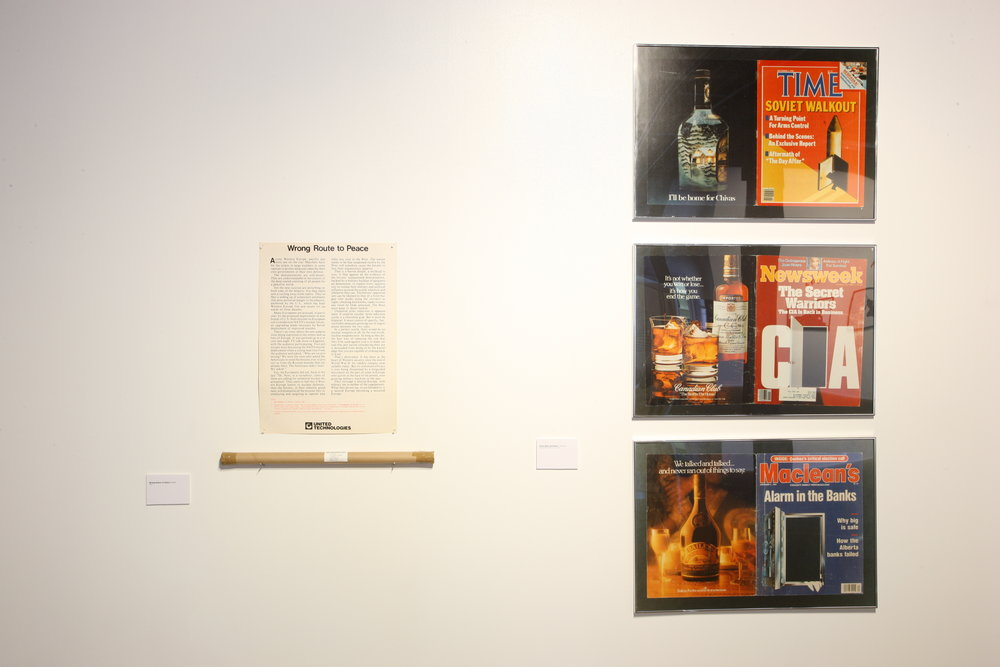 (Installation view) Wrong Route To Peace, poster, 1982, 25.00 CAD (per poster)