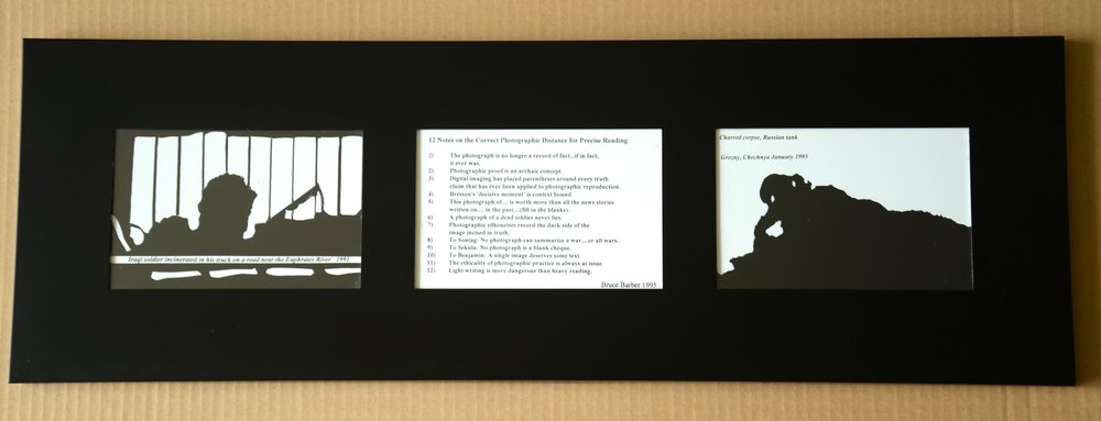 The Precise Distance for Viewing, photo series, postcards, 6×4″, 3 framed postcards, 150.00 CAD
