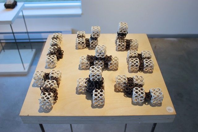 Permutations, 2014, stoneware, 8 pieces each approx. 5 x 3 x 1″, 200.00 CAD each