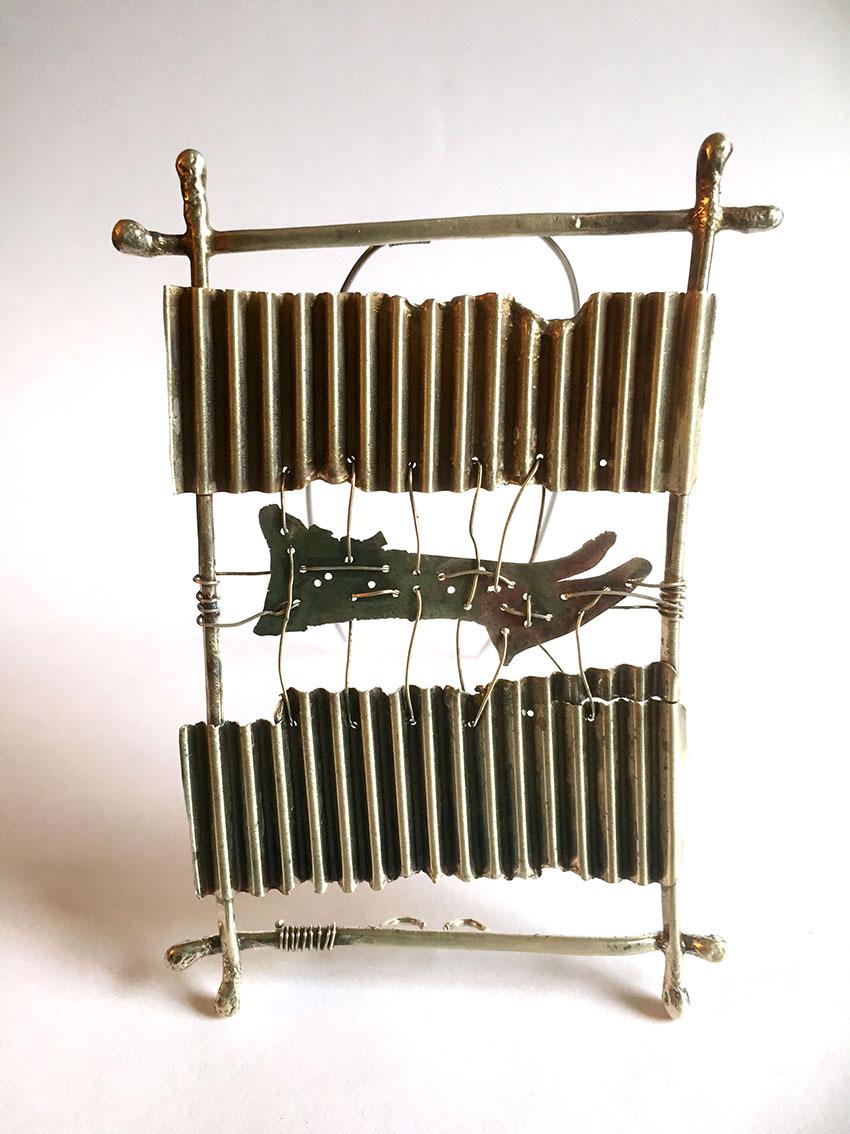 Fence Study # 1, Sterling silver, brooch, 2015, 8 x 5 x 1 cm, 200.00 CAD