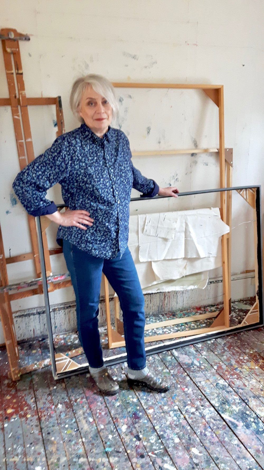 Artist in her studio, April 2017