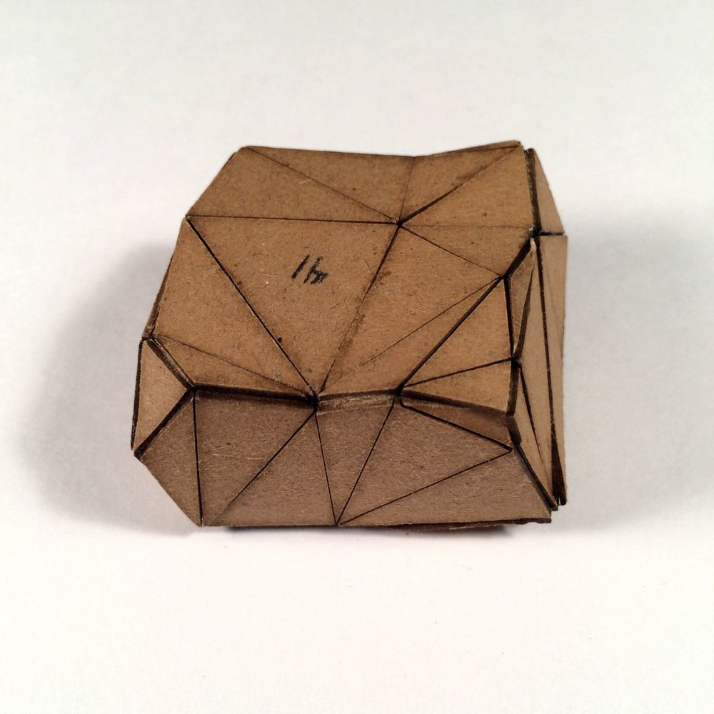 (Back view) 024 - Boxes For Rocks, 2012, laser cut cardboard, found rocks, glue, 9cm x 7cm x 3cm (flat bottom), 250 CAD