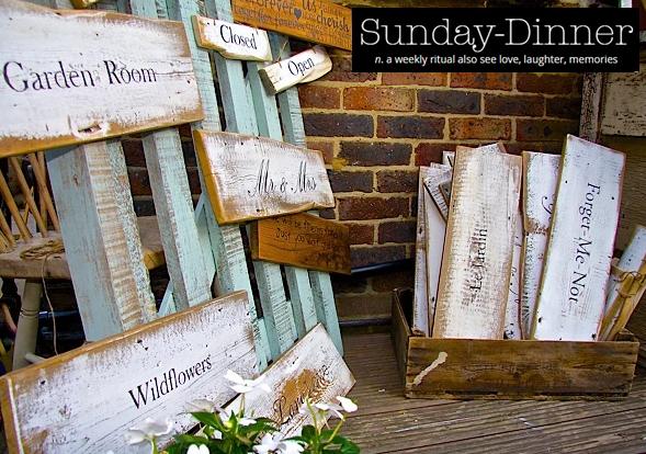 Sunday Dinner Bespoke Wooden Signs