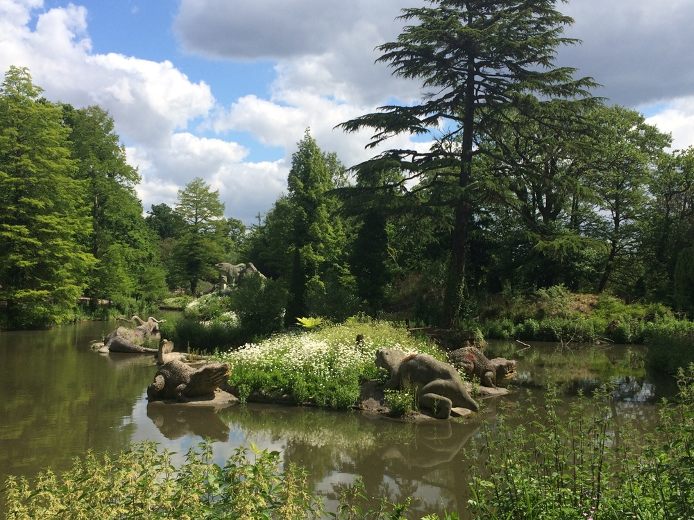 Dinosaur lake at Crystal Palace Park