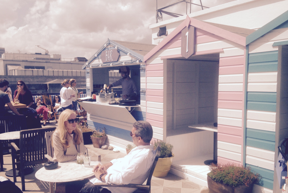 Vintage Salt roof terrace bar at Selfridges, Oxford St