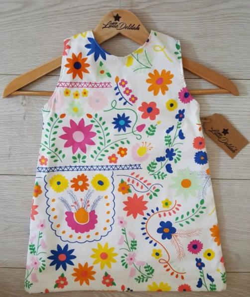 A line summer dress