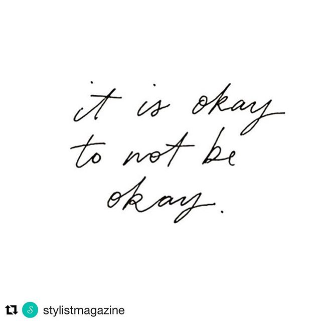 Supporting World Mental Health Day and recognising we don't need to always put a brave face on. It's definitely ok not to always be ok. It's real.  #Repost @stylistmagazine (@get_repost) ・・・ #worldmentalhealthday . . . #mentalhealth #mentalhealthawareness #worldmentalhealthday2017