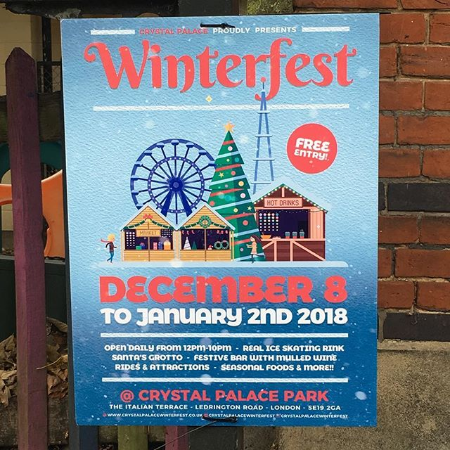 We're so excited about all the upcoming Xmas activities for families (Santa was booked in September 🙈) so let us know if you see any events in your area! Looking forward to seeing this in Crystal Palace Park too @crystalpalacewinterfest #maternityleavelife #christmas2017 #familychristmas #babiesfirstxmas #toddlerxmas #grotto #santa #iceskating