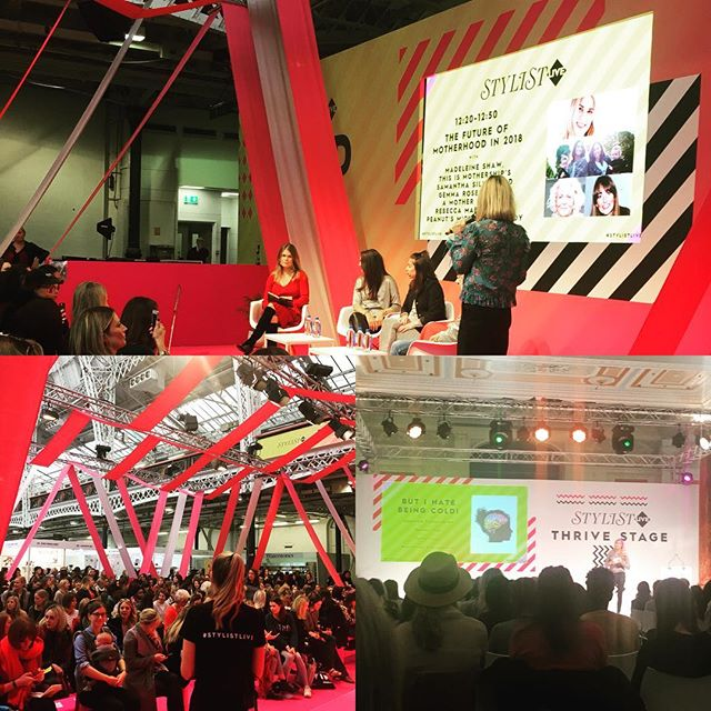 Had a great day out at @stylistlive today! Nice to see lots of mums and babies out for the Future of Motherhood talk ft @madeleine_shaw_ and @peanut founder Michelle. And we LOVED listening to How to Be Calm with @chloebrotheridge - lots of good tips for relieving anxiety and stress! #maternityleavelife #stylistlive #theanxietysolution #mblogger #pblogger #mumsdayout #nokids