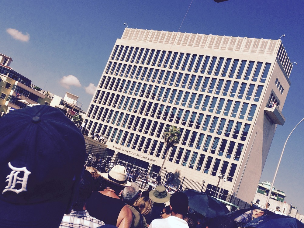 The opening of the U.S embassy, Havana