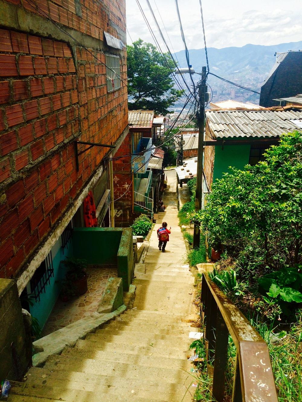 The favelas of Medellín