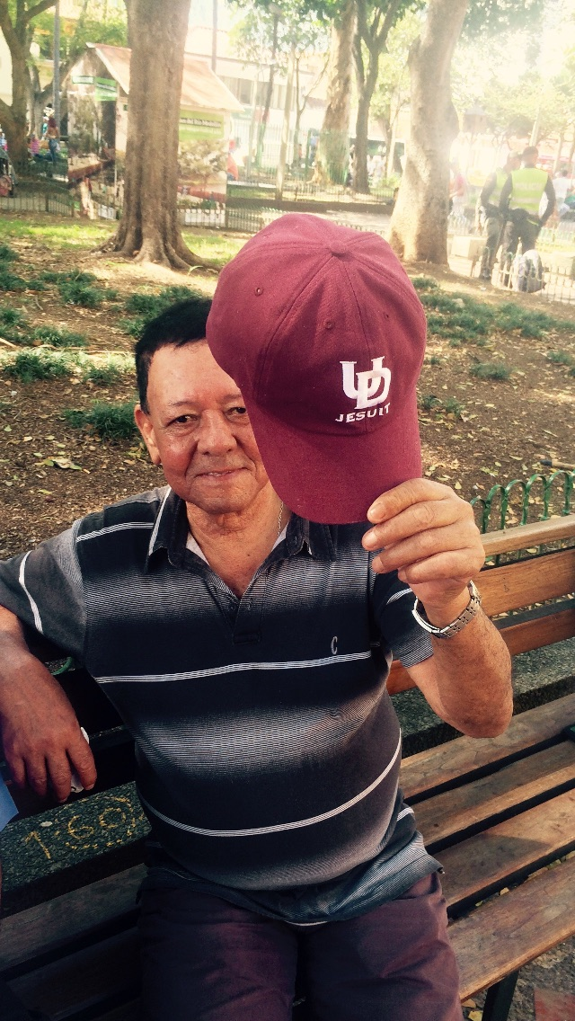 Met this guy in Medellín wearing the hat of my high school in Detroit—he had no idea what it was about