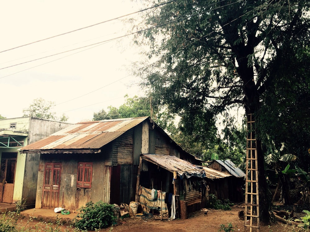 A home in a rural town outside of Pleiku