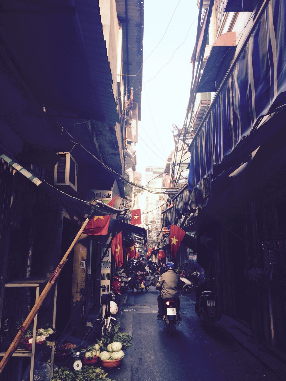 A typical street in Hanoi, the capital of Vietnam