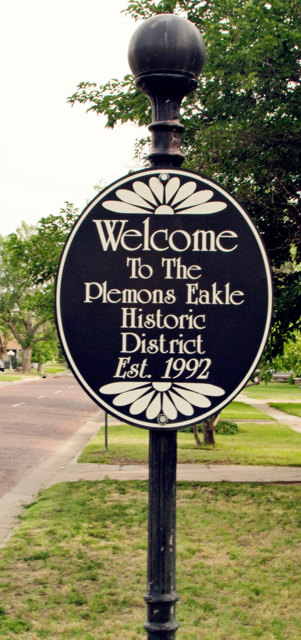 Plemons-Eakle Historic District Marker