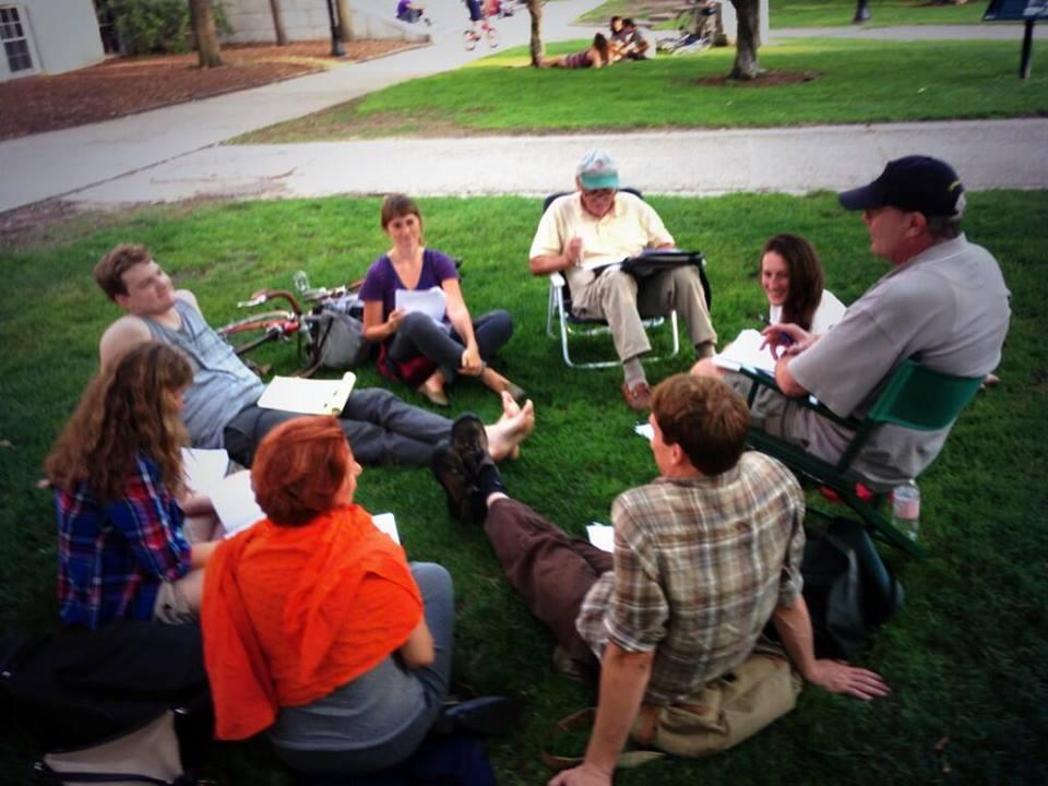 The Burlington Writers Workshop meets at City Hall Park. Courtesy photo.