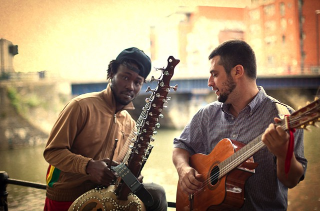 Sekou Kouyate and Joe Driscoll. Photo courtesy of the artists.