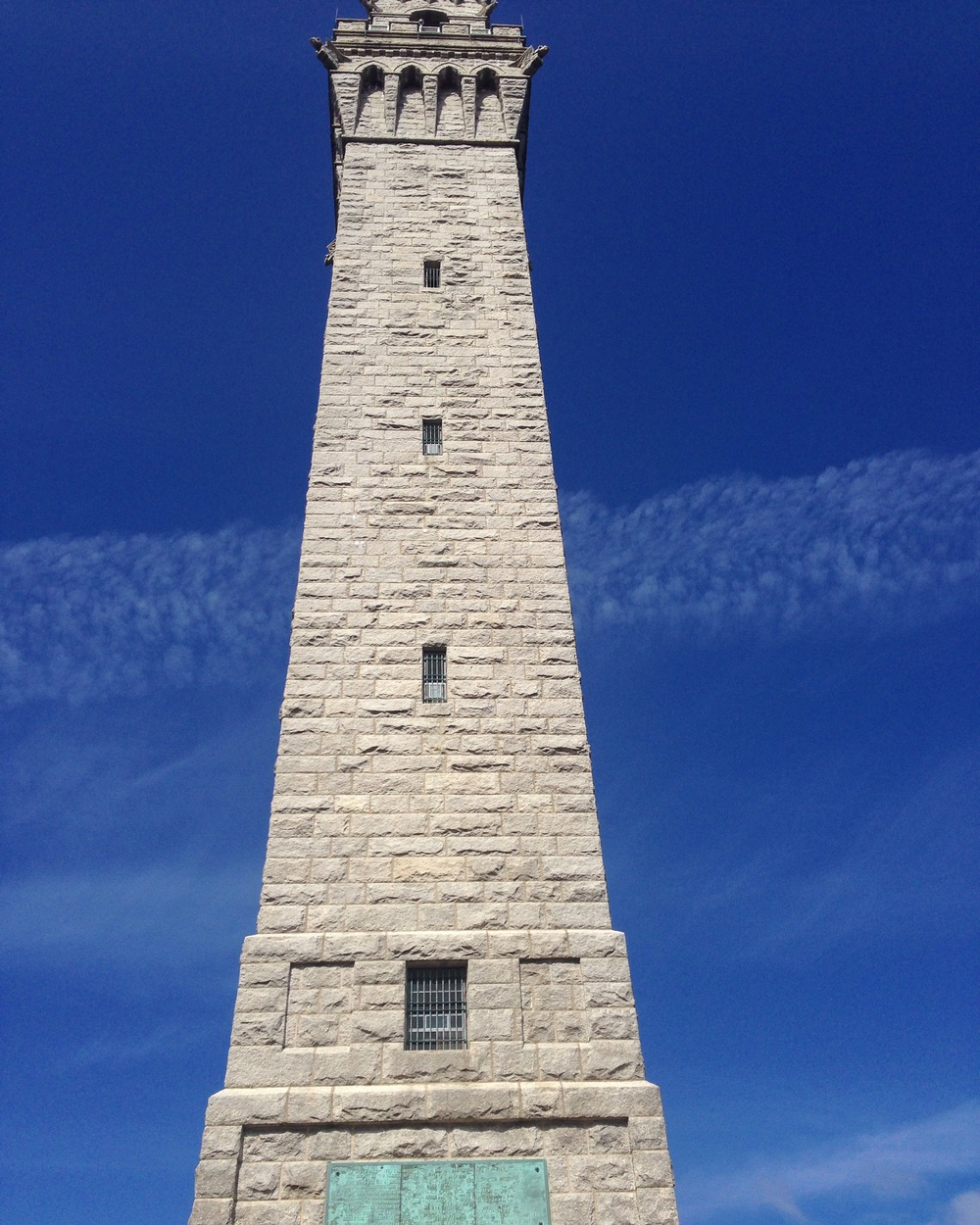 The Pilgrim Monument standing tall and proud. Yes, this is no-filter.
