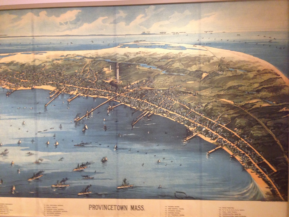 Old-time map on display in the museum.