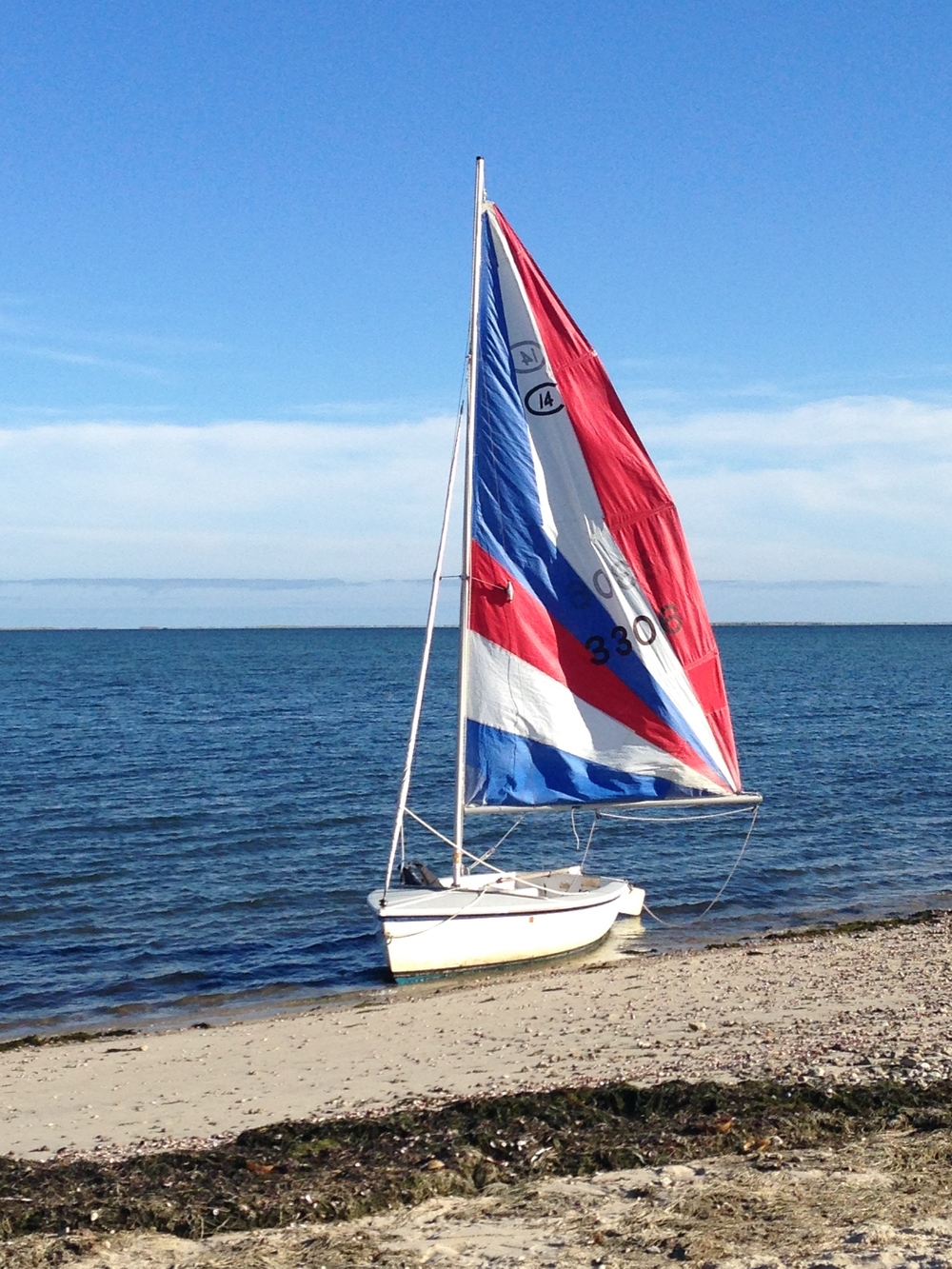 Patriotic sails, Forest Beach