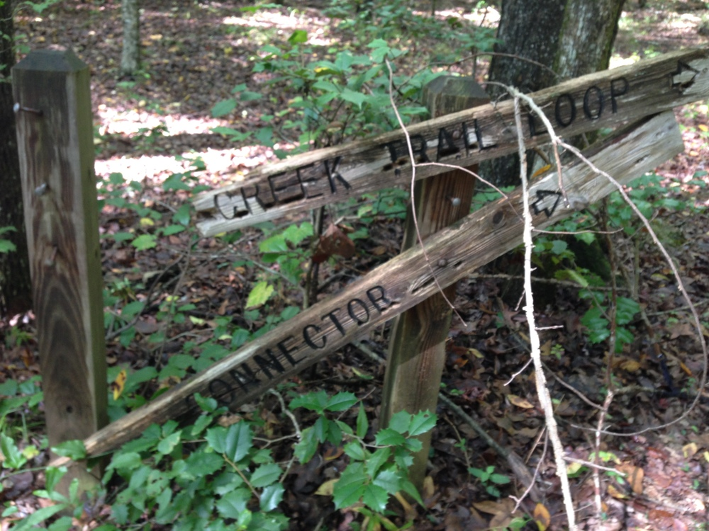 Fallen trail signs