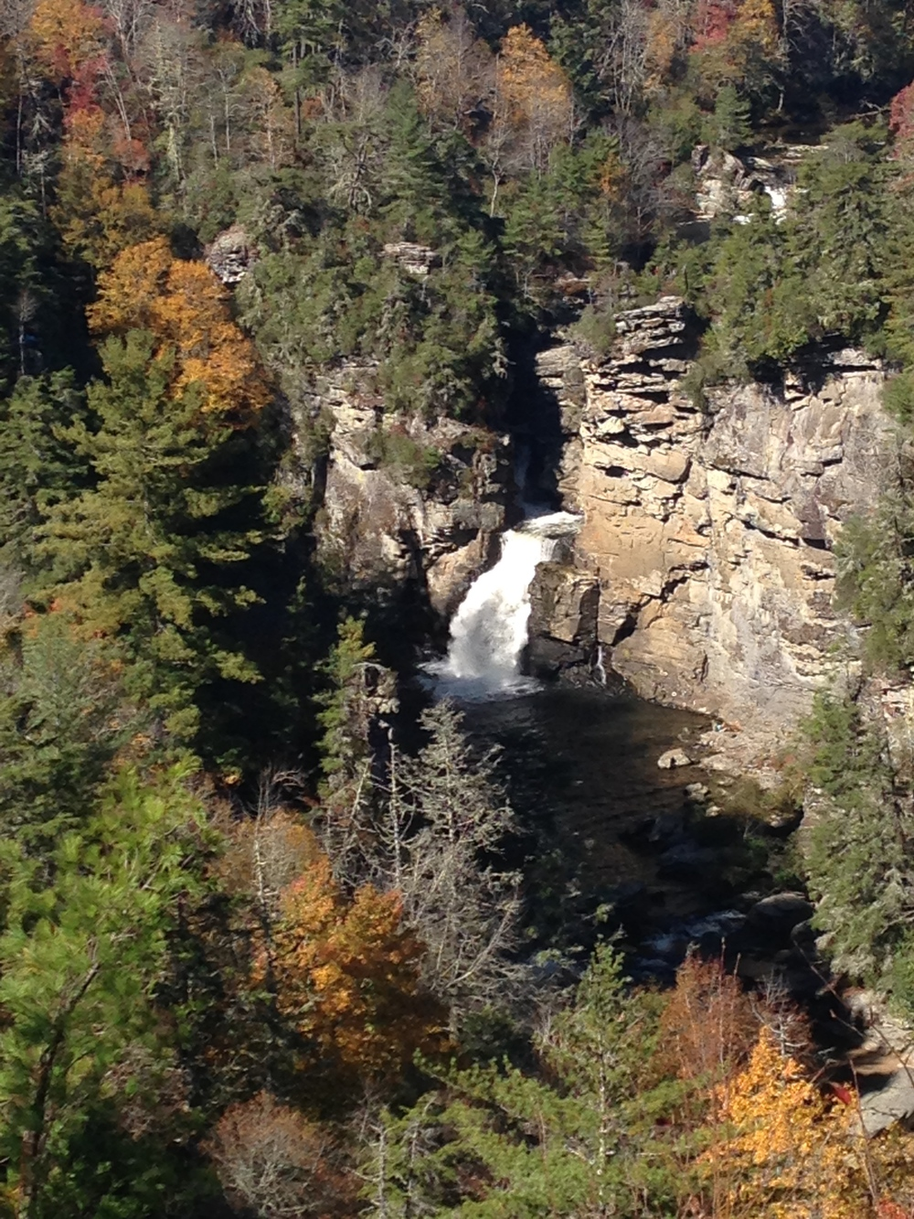 Classic, far-away glance of the falls, from Erwin's View Trail