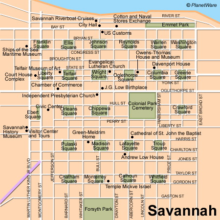 Just a google search for Savannah squares.