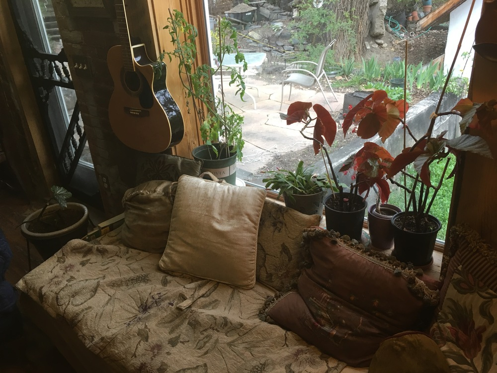Reading & guitar strumming nook