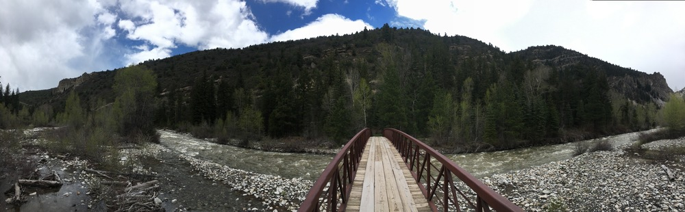 The bridge is a perfect spot to take in the surrounding canyon and get a 360 view.