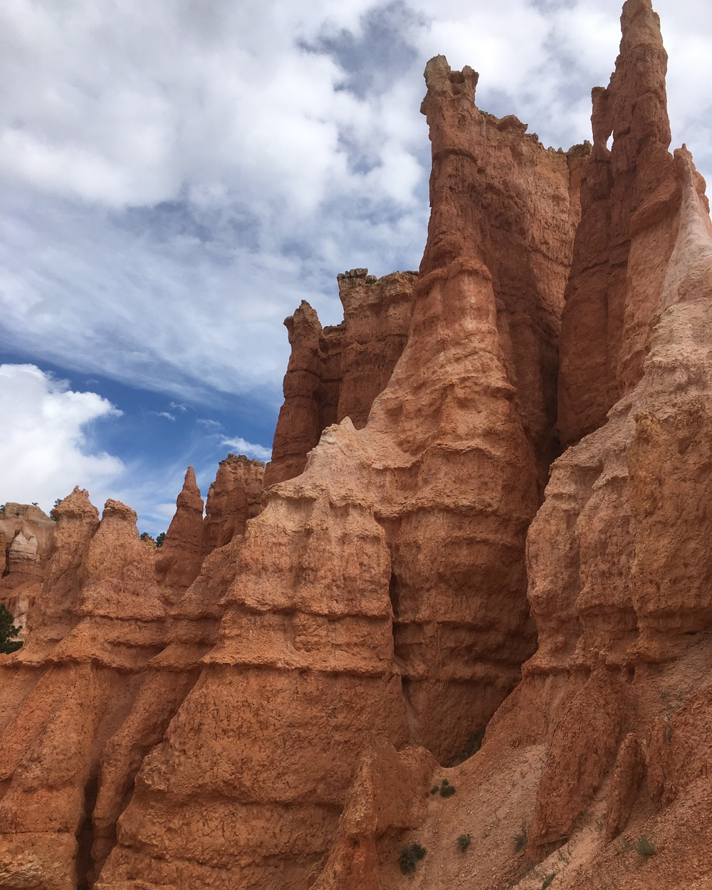 Hopping through hoodoos at Bryce.