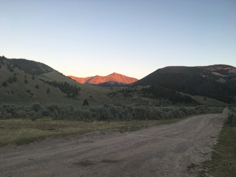 Sunset in Lima, Montana,  Beaverhead-Deerlodge National Forest