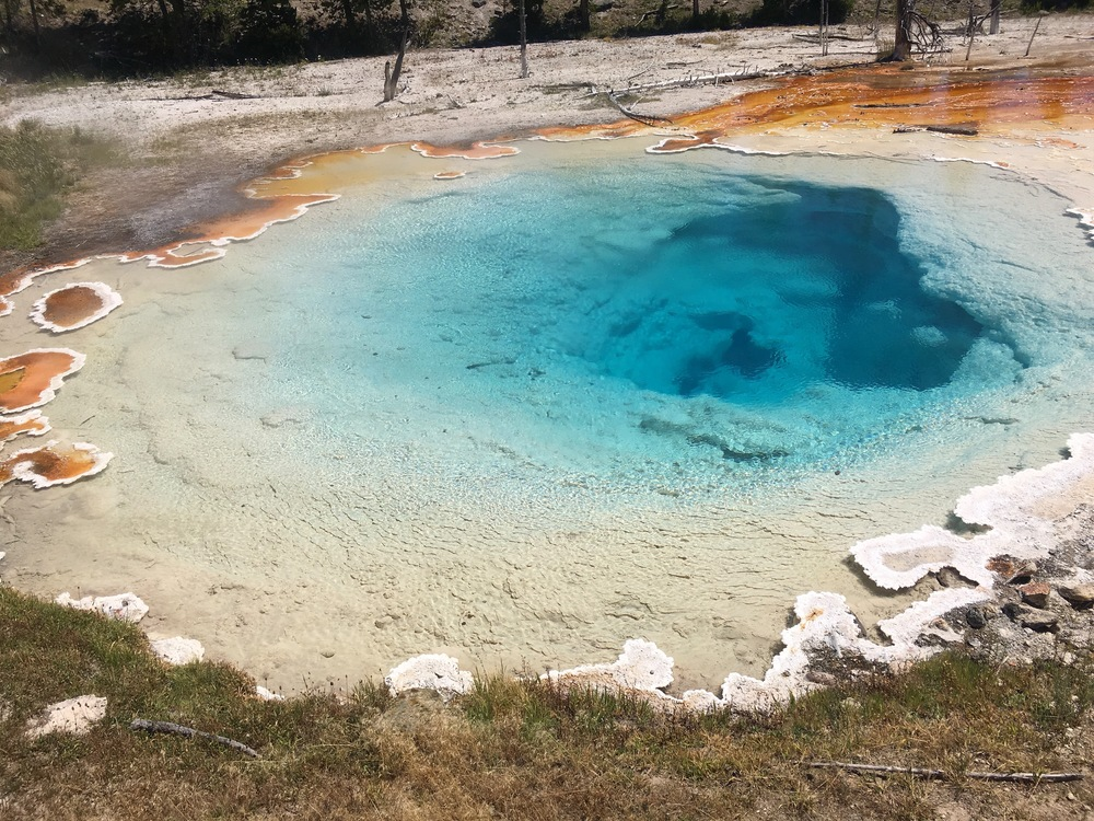 "Lower Geyser Basin. I like to call this one ""the bluest eye."""