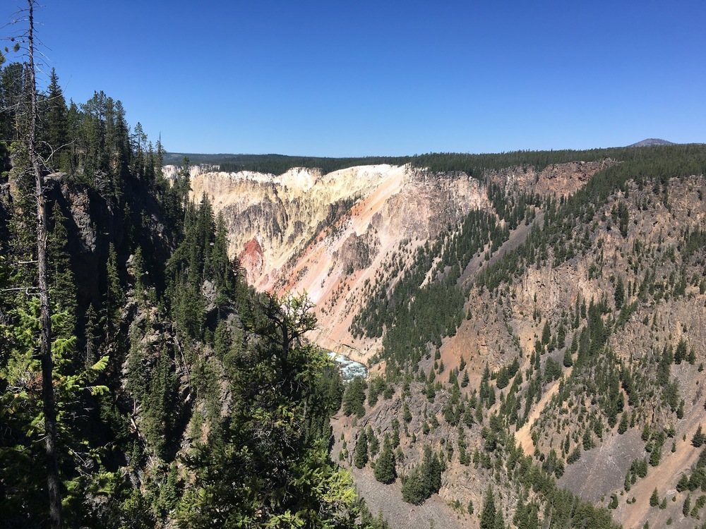 A glimpse of the Grand Canyon of the Yellowstone