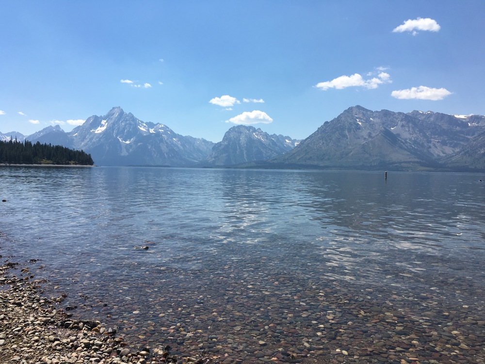 Jackson Lake, view from Colter Bay swimming area. No pictures from kayaking, unfortunately!