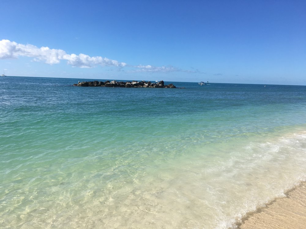 Beach at Fort Zachary Taylor State Park, Key West.